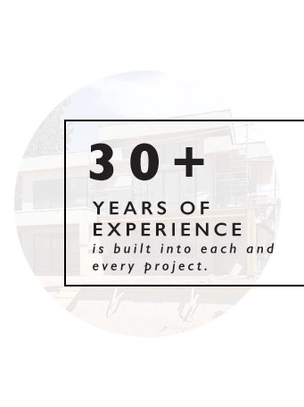 30+ years of experience building homes